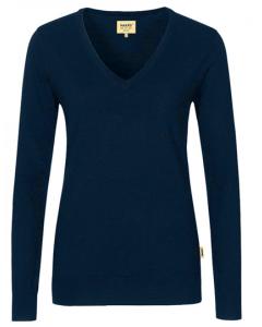 Damen V-Neck Pullover Merino-Wool Hakro XS-3XL