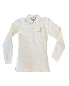 SONDERPREIS 40% - Damen Poloshirt Langarm beige XS-L